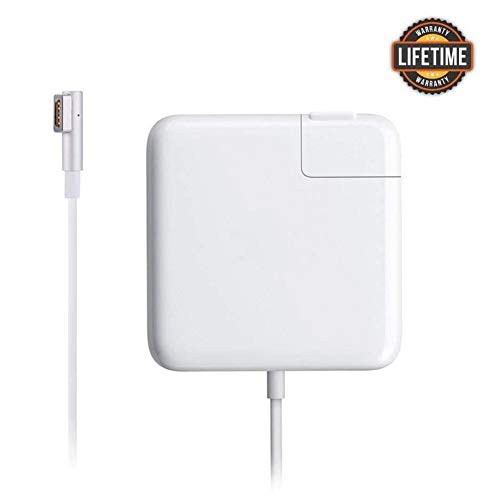 Compatible with Mac Book Air Charger, AC 45W Magsafe 1 L-Tip Power Adapter Replacement Charger Compatible with Mac Book Air 11/13 inch (Before Mid 2012) (White)
