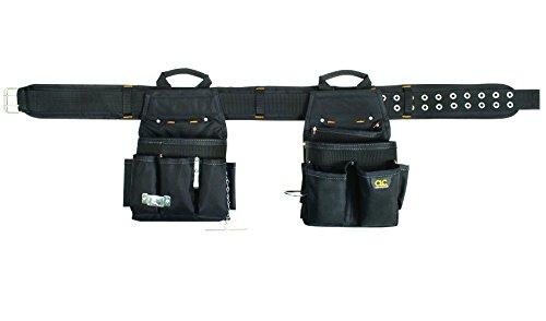 CLC Custom Leathercraft 5609 3 Piece Electrical Combo Tool Belt, 20 Pocket