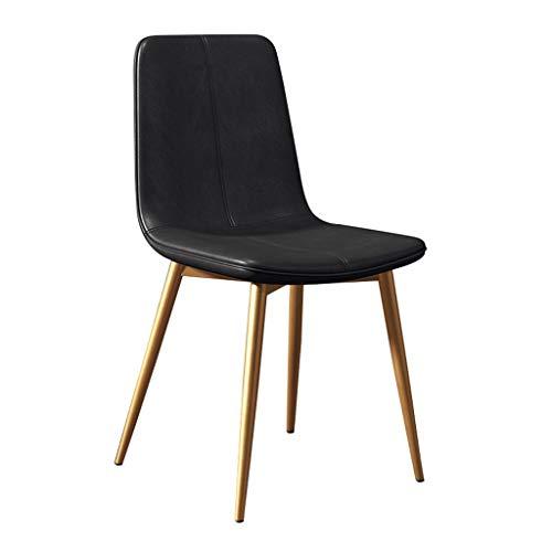 zyy Sillas de cocina, sillas de comedor, sillas de cocina, estilo vintage, para salón, ocio, sala de estar, con patas de metal, asiento y respaldos de piel sintética (color negro)