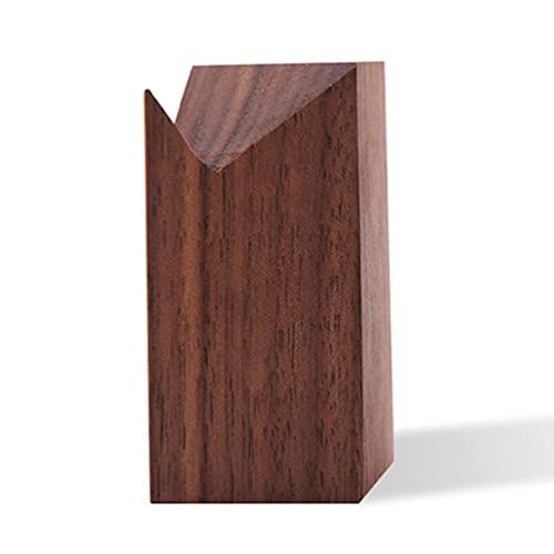 Base de madera negro nogal titular de la joyería titular organizador joyería madera bandeja de presentación regalo cumpleaños negro nogal titular