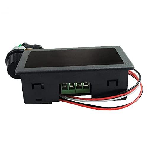 LAANCOO Controlador de Pantalla de Velocidad del Motor DC CCM5D LED Digital PWM Continuo Interruptor de Control Ajustable