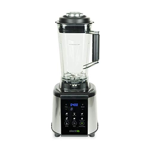 electriQ 1250W Multi Functional Blender, Smoothie and Soup Maker with Digital Controls - Black