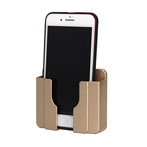 Mdsfe Home Decoration wandhouder telefoon oplaadstation stopcontact oplader opbergdoos telefoonhouder universele stand display ondersteuning - goud