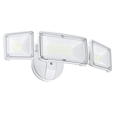 Full Metal Dusk to Dawn Exterior Flood Light - Super Bright Security Light Outdoor - 35W 3500LM, Samsung LED Bead, IP65 Waterproof, 5500K - GLORIOUS-LITE Adjustable LED Outdoor Lighting(No Motion)