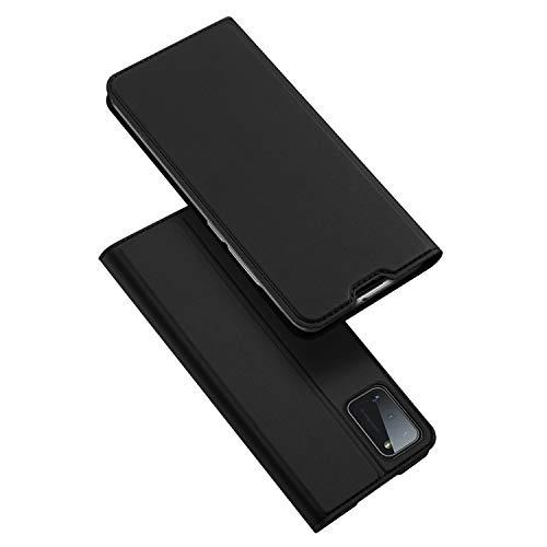DUX DUCIS Hülle für Samsung Galaxy A41, Leder Klappbar Handyhülle Schutzhülle Tasche Hülle mit [Kartenfach] [Standfunktion] [Magnetisch] für Samsung Galaxy A41 (Schwarz)