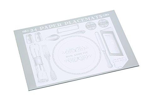 Kitchen Craft para cama de diseño de manteles individuales de papel, Book of 24