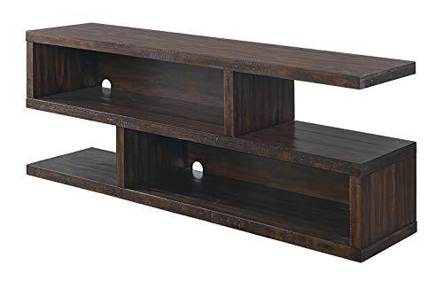 "Martin Svensson Home Lexington Solid Wood TV Stand, 70"", Dark Mocha"