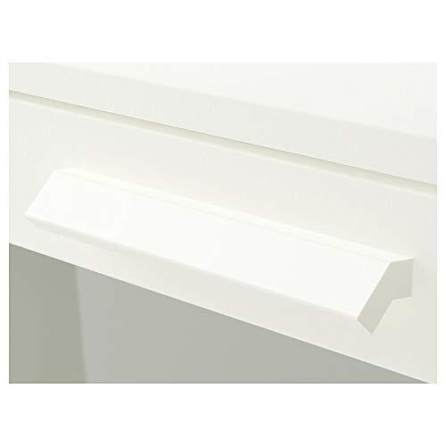 Ikea BRIMNES - Cómoda con 4 cajones y 4 cajones (cristal opalino blanco)
