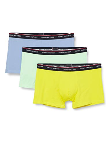 Tommy Hilfiger 3p Trunk Ropa Interior, TH Neon Yellow/Moon Blue/Neo Mint, XL para Hombre