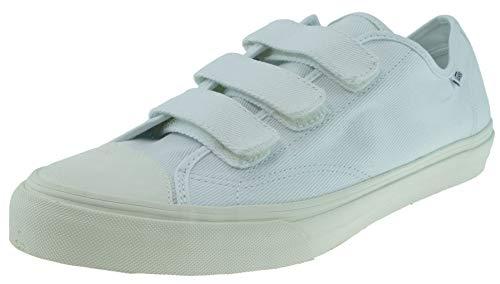 Vans Unisex Shoes Prison Issue True White/ Off White (Twill) Fashion Sneaker (13 Mens / 14.5 Womens)