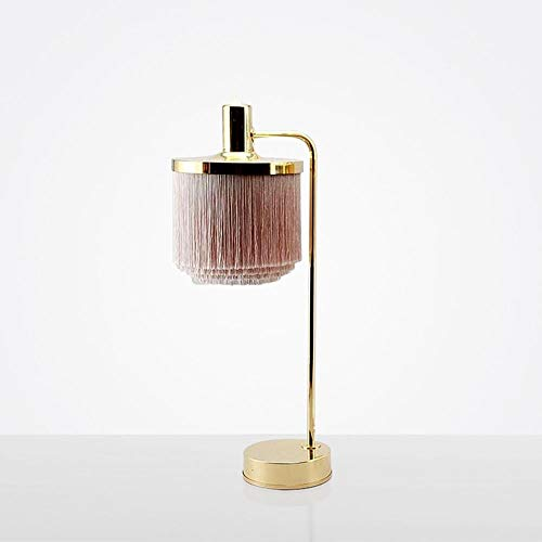 LTAYZ Lámpara Escritorio Lámpara Simple Sala de Estar Comedor Tassel Creativo Home Arts Lámpara de mesita de Noche Lámpara de Escritorio Lámpara Dormitorio 1 * E27 (25 * 61cm)