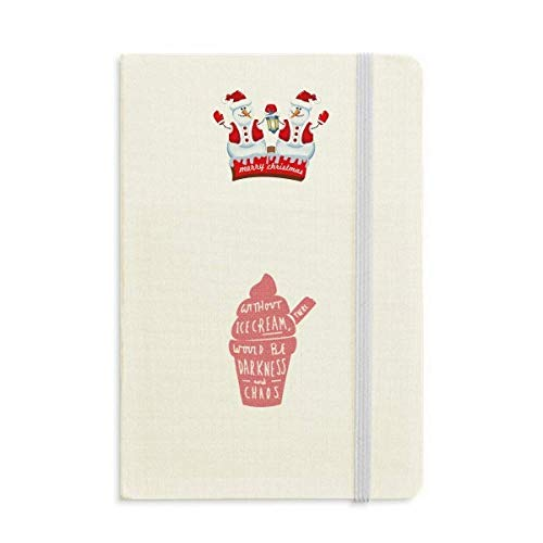 Sem sorvete There Would Be Darkness Christmas Snowman Notebook capa dura grossa