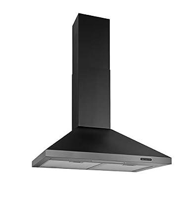 Broan-NuTone EW4830BLS Wall-Mount Black Stainless Steel Chimney LED Lights, 400 CFM, 30-Inch Range Hood