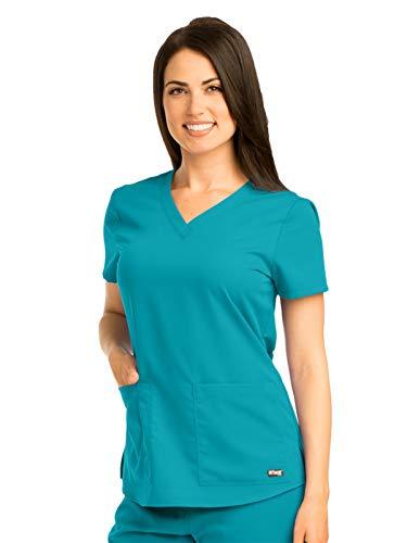 Grey's Anatomy 71166 V-Neck Top Teal XL
