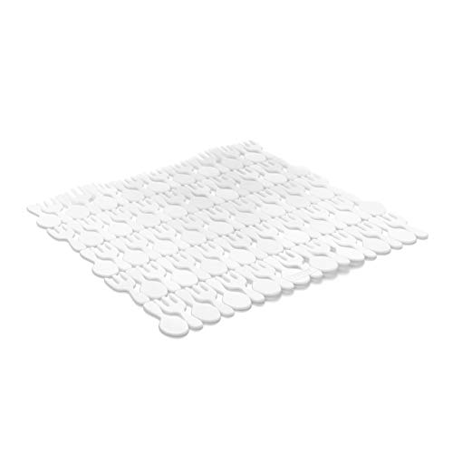 TATAY 1128000 - Salvaplatos protector de fregadero, Plástico Blanco, 28x0.5x28 cm