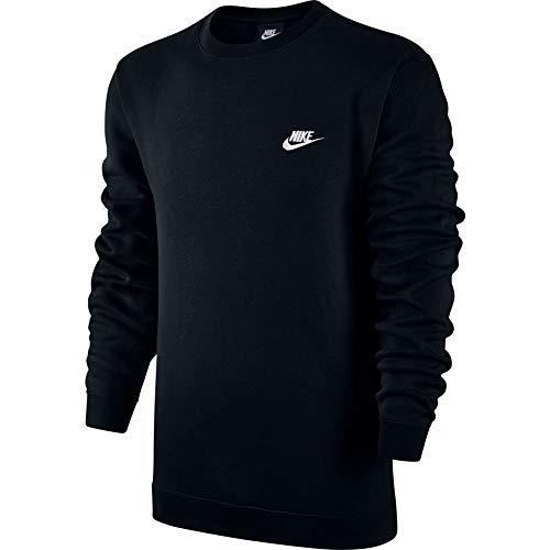 Nike M NSW CRW FLC Club–T-Shirt à Manches Longues pour Homme XS Noir (Black/White)