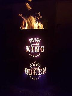 Tiko-Metalldesign King/Queen Feuertonne - Feuerkorb