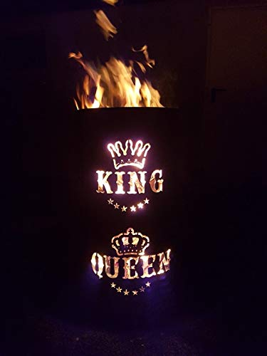 Tiko-Metalldesign King/Queen Feuertonne - Feuerkorb
