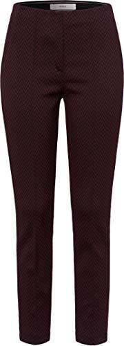 BRAX Stella Minimal Graphic 7/8-hose Skinny Modern Pantaloni, Viola (Cranberry 82), 48 (Taglia Produttore: 42K) Donna