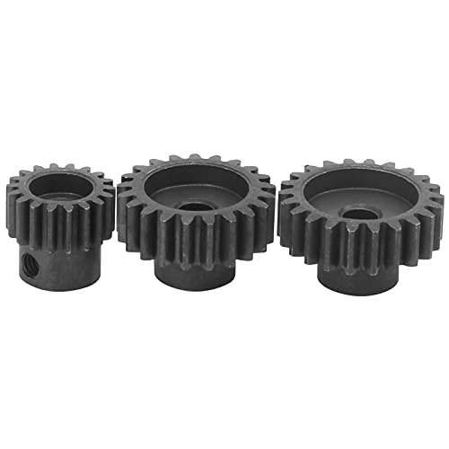 VGEBY Juego de piñón de Metal, M1 21T + M1 22T + 32P 18T Kit de Engranaje de Motor para Motores con diámetro de Eje de 5 mm para Coche de Control Remoto 1/10 1/8