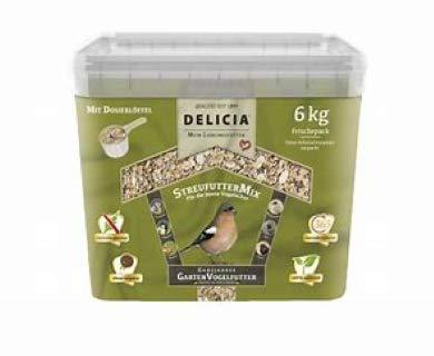 Delicia StreufutterMix ganzjahres Garten Vogelfutter 6 kg