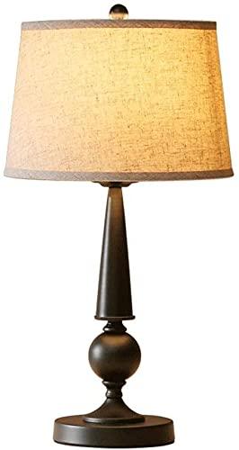 Lámpara de mesa para dormitorio Americano Sala de estar Lámpara de mesa Simple Moderno Estudio Lámpara Lámpara Lámpara Lámpara de mesa Lámpara de mesas de cama para dormitorio y oficina