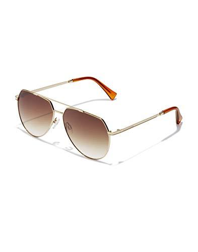 HAWKERS Shadow Gafas de Sol, Dorado/Marrón, One Size Unisex Adulto