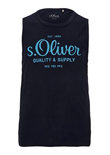 s.Oliver Big Size Herren 131.10.005.12.130.2052195 Trägershirt/Cami Shirt, Dark Blue, 3XL