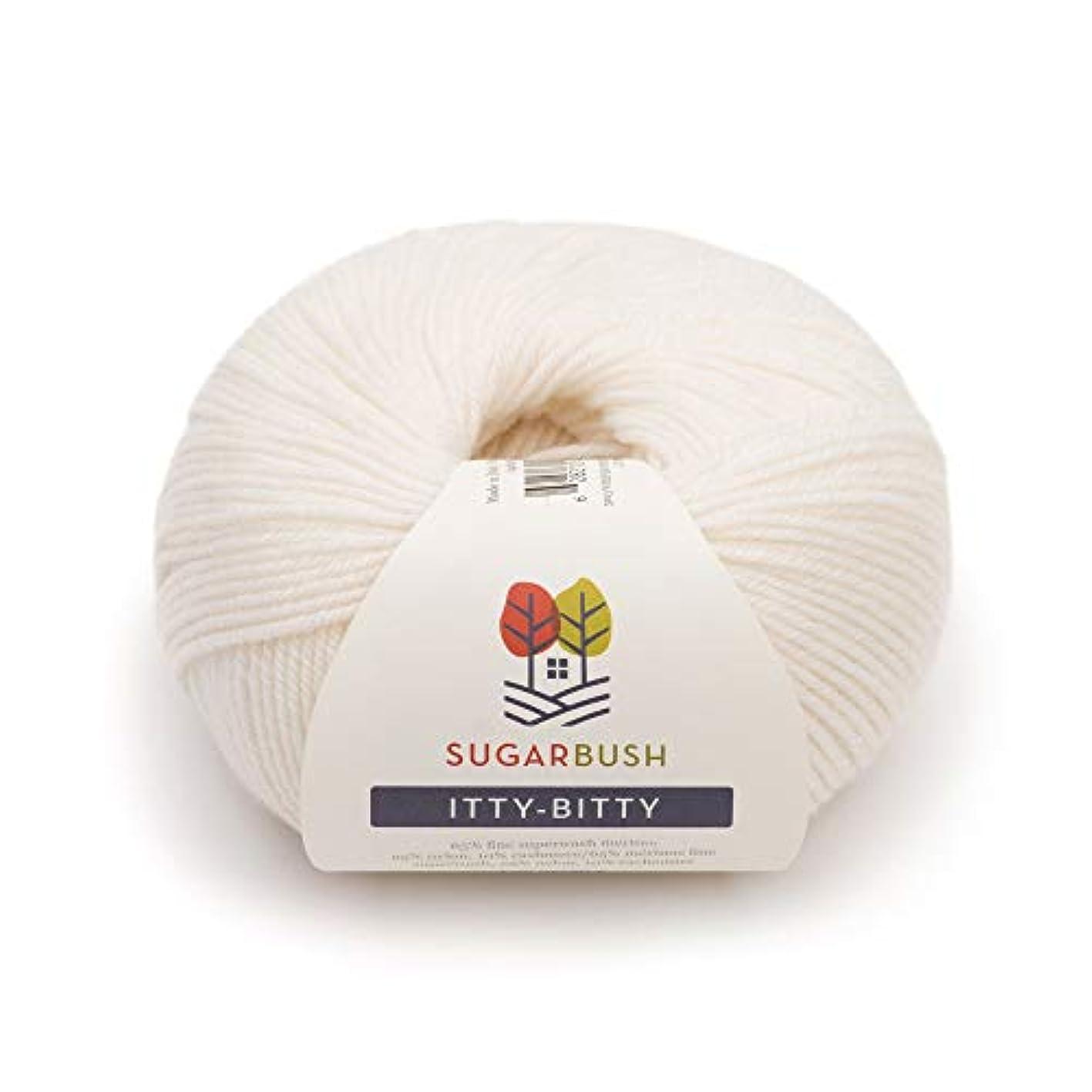 Sugar Bush Yarn Itty-Bitty Fine Weight, Whisper White cdddfuwytdp362