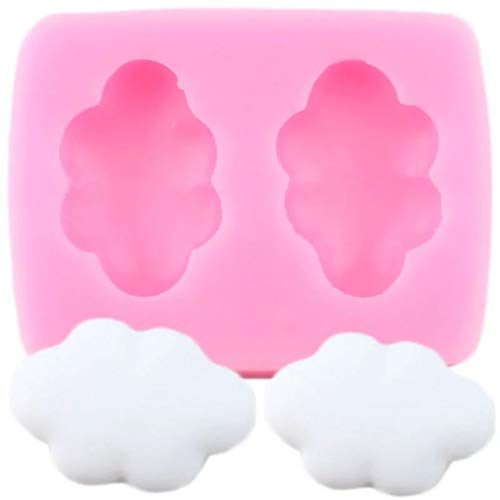 FGHHT 3D Cloud Shape Chocolate Silicone Mold Cupcake Topper Fondant Mould DIY Baking Cake Decorating Tools Candy Polymer Clay Moulds