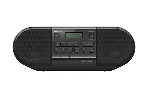 Panasonic RX-D550E-K CD Boom Box (Radio UKW, CD Player, USB, Bluetooth, Netz- und Batteriebetrieb) schwarz