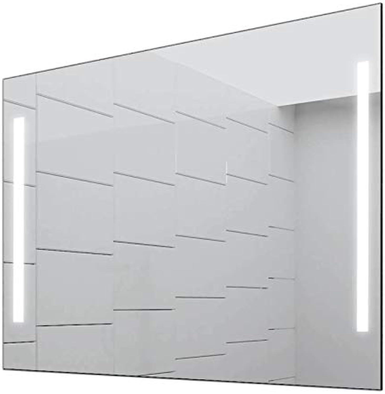 Concept2u Badspiegel Enjoy Badezimmerspiegel mit 4.000K neutralweier Beleuchtung 70 cm Breit x 80 cm Hoch Licht Links+RECHTS
