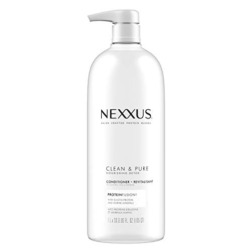 Nexxus Clean and Pure Conditioner For Nourished Hair With ProteinFusion Silicone, Dye And Paraben Free 33.8 oz