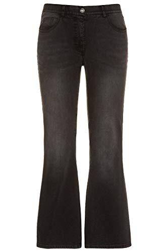 Studio Untold Damen Schlaghose, Denim Jeans, Grau (Black 74946711), 42