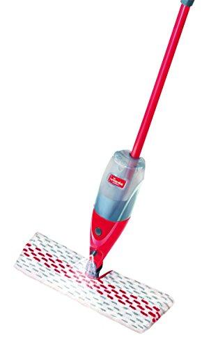 Vileda Spray & Clean Spray met tank voor vochtige reiniging van tegels, parket en laminaat