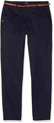 Scotch & Soda Maison dames AMS blauw slim fit Chino in stretch twill with riem broek, blauw (Midnight 0093), W36/L32 (fabrikantmaat: 27/32)