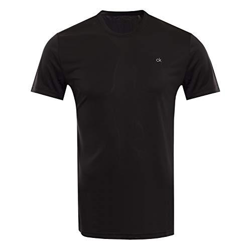 Calvin Klein Herren Harlem TECH Tee Golf-T-Shirt, schwarz, Groß