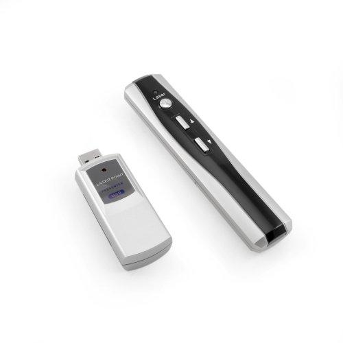 Incutex *Neu* RF – OHNE Zielen Wireless Presenter, Multifunktions-Laserpointer, Laserpointer, für PowerPoint, USB-Anschluß, schwarz Silber, Black Silver