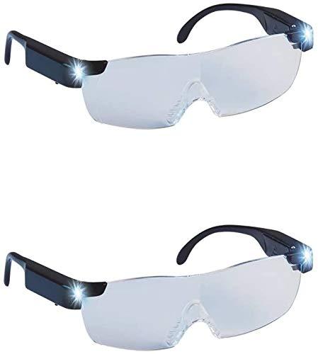Mediashop Zoom Magix LED Doppelpack | integriertes LED-Licht und 160% Vergrößerung | Polycarbonat-Linsen | langlebiger Rahmen - Kratzfeste Gläser - sicher und bequem | Unisex- Design| Das Original a