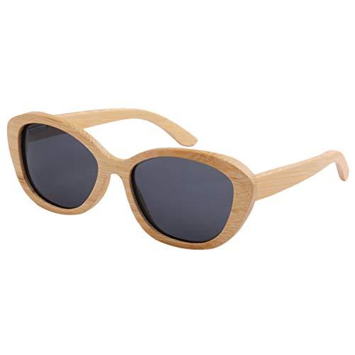 Handgemaakte bamboe zonnebril van hout – uniseks bril met houten frame