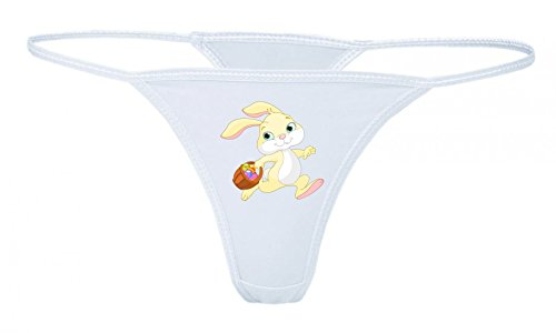 String Tanga Ostern- HASE- Kaninchen- Tier- Anthropomorphe- Korb- Eier- Cartoon- Comic XS- XXL Damen String Sexy Unterhose