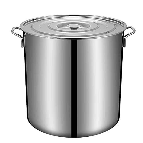 Pentole fumanti Pentola di riserva, commerciale/domestico 201 della zuppa di sottofondo in acciaio inox con coperchio, per fornello a gas/a induzione (10-90L) Recipiente di cottura (Size : 10L)