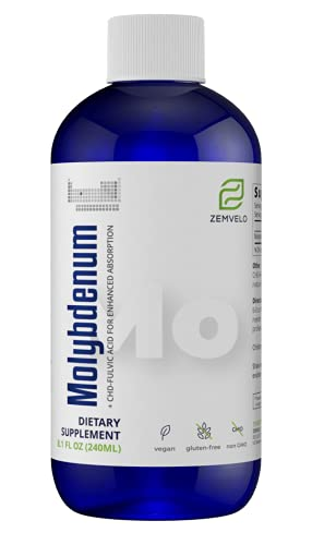 Liquid Ionic Molybdenum   96 Day Supply   Trace Mineral   Weight Management   Energy Support   Restful Sleep