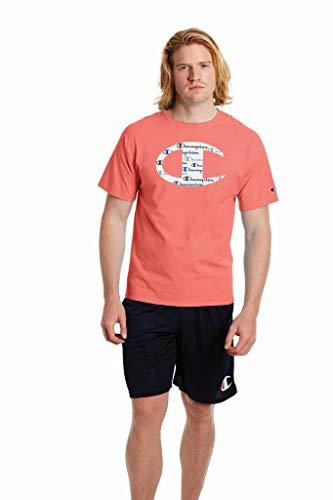 Champion Classic Graphic tee Camiseta, Citrus Pink-y08128, S para Hombre