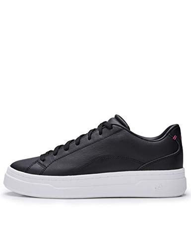 CARE OF by PUMA Leather Platform Court Low-Top Sneakers, Negro Black Black, 41.5 EU