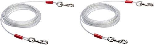 AmazonBasics - Kabelleine für Hunde bis 41 kg, 7,62 m, 2er-Pack