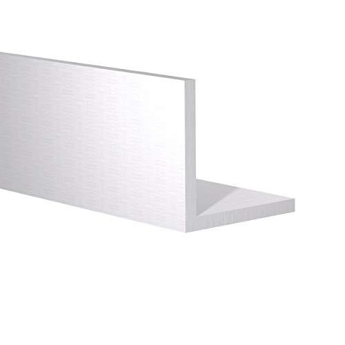 "Orange Aluminum – 90 Degree Angled Extrusion – Heavy Duty Metal L Shape Corner Angle Bar – Extruded Edging Trim Bracket – 2"" x 2"" x 1/4"" - 2ft Length, Mill Finish"