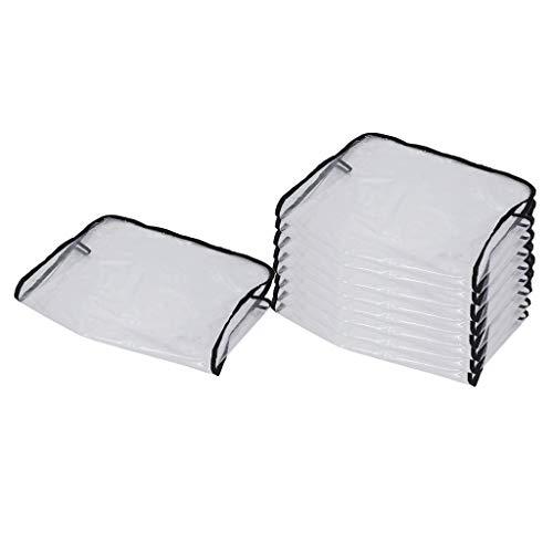 #N/a 9x Funda Trasera Transparente para Silla para Salón de Belleza Spa Silla de Peluquero PVC Impermeable