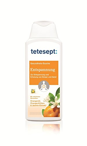 Tetesept Entspannung Duschgel | Zur Entspannung Und Erholung Von Körper Und Geist | Mit Natürlichen Wirkstoffen: Orangenöl, Orangenblüten- & Jasmin-Extrakt| Intensiver Duft | 250ml
