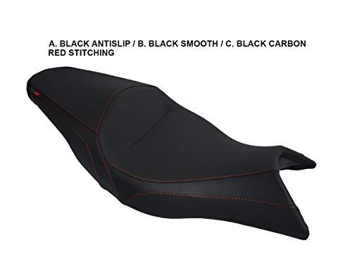 Sitzbankbezugnerung Aprilia Shiver 750 '10- Schwarz-Rote Nähte